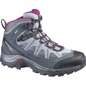 Salomon Authentic LTR GTX Hiking Shoes Women Pearl Grey/Grey Denim/Mystic Purple